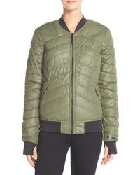 Bench | Green Quilted Water-Resistant Jacket  | Lyst