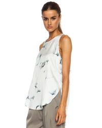 3.1 Phillip Lim White Off The Wall Overlapping Side Seam Silk Shirt