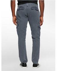 Calvin Klein - Blue Jeans Linen Cotton Blend Cargo Pants for Men - Lyst