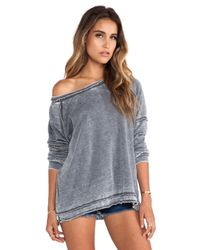 Free People Gray Never Can Tell Pullover