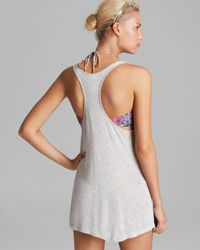 MILLY Yellow Coral Reef Sequins Embroidery Kaoka Racerback Swim Cover Up