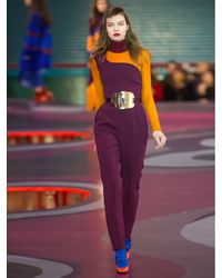 ROKSANDA Purple Amos One-shoulder Jumpsuit