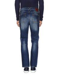 Frankie Morello | Blue Denim Trousers for Men | Lyst