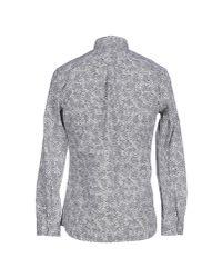 DIESEL Black Shirt S-ozzy Slim Fit Denim Collar for men