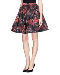 Alice + Olivia Multicolor 'Pia' Jacquard Pouf Skirt