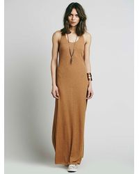Free People | Brown Boyfriend Maxi | Lyst