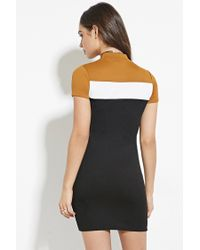 Forever 21 Black Colorblocked Cities Graphic Dress You've Been Added To The Waitlist