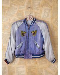 Free People | Blue Vintage Silk Dragon Souvenir Jacket | Lyst
