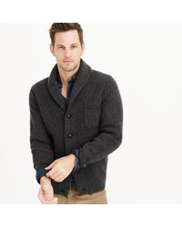 J.Crew | Black Lambswool Three-pocket Cardigan Sweater for Men | Lyst