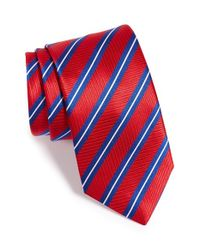 Thomas Pink | Red Woven Silk Tie for Men | Lyst