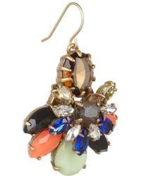 J.Crew | Blue Honey Bee Goldtone Crystal Earrings | Lyst