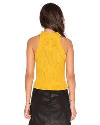 Bardot Yellow Heather Skivvy Top