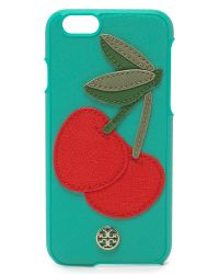 Tory Burch | Green Cherry Iphone 6 / 6s Case - Biscay | Lyst