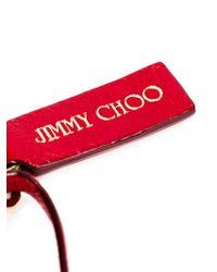 Jimmy Choo Red Fringed Charm