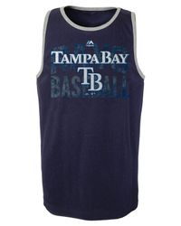 Majestic - Blue Boys' Tampa Bay Rays Valiant Victory Tank Top for Men - Lyst