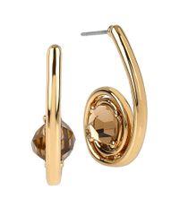 Robert Lee Morris | Brown Faceted Crystal Spiral Drop Earrings | Lyst