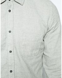 DIESEL | Gray Flannel Shirt for Men | Lyst