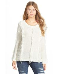 Volcom | White 'treasure This' Fringe Sweater | Lyst