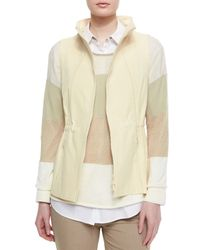 Lafayette 148 New York | Natural Dip Back Two-zip Vest | Lyst