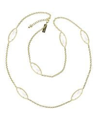 Kendra Scott - Metallic Tory Marquise-station Necklace - Lyst