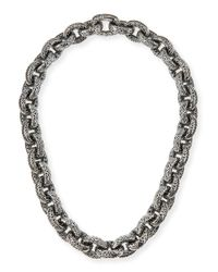 Konstantino | Metallic Chunky Filigree Link Collar Necklace | Lyst