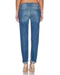 PAIGE | Blue Jimmy Jimmy Skinny-Fit Boyfriend Low-Rise Stretch-Denim Jeans | Lyst