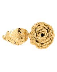 Leivan Kash | Metallic 'olivia' Rose Ring | Lyst