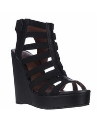 Lucky Brand Gray Lucky Riona Strappy Gladiator Wedge Sandals