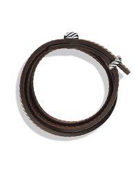 David Yurman - Red Cable Triple-wrap Bracelet for Men - Lyst