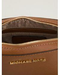 MICHAEL Michael Kors Brown Mini 'jet Set Travel' Crossbody Bag