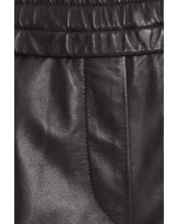 Isabel Marant - Black Leather Jogging Pant - Lyst