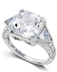 Arabella | Metallic Swarovski Zirconia Engagement Ring (10-1/3 Ct. T.w.) | Lyst