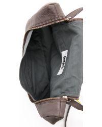 MM6 by Maison Martin Margiela Leather Cross Body Bag - Gray