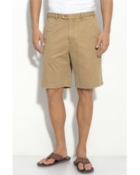 Peter Millar | Natural Washed Twill Shorts for Men | Lyst