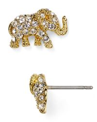 kate spade new york | Metallic Dainty Sparklers Elephant Stud Earrings | Lyst