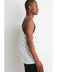 Forever 21 | White Star Print Tank for Men | Lyst