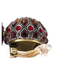 Lanvin | Red Tassel Clip-on Earrings | Lyst
