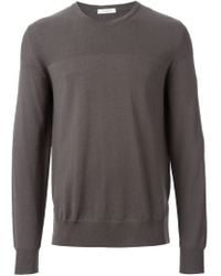 Paolo Pecora - Brown Crew Neck Sweater for Men - Lyst