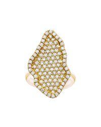 Kimberly Mcdonald - Metallic 18k Gold Pavé Diamond Geode-shaped Ring - Lyst