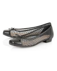 Lotus | Black Damsel Flat Shoes | Lyst
