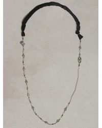 John Varvatos Black Mixed Sterling Silver Chain Necklace for men