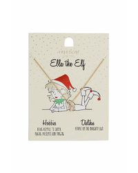 TOPSHOP | Metallic Ella The Elf Necklace | Lyst