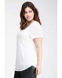 Forever 21 - White Plus Size Slub Knit Pocket Tee - Lyst
