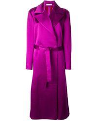 Barbara Casasola Purple Belted Coat