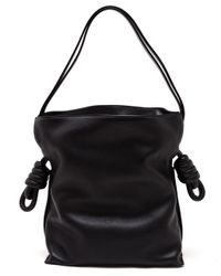 Loewe | Black Flamenco Knot Leather Shoulder Bag | Lyst