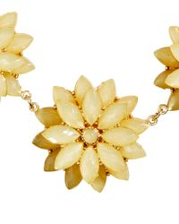 H&M Yellow Necklace With Floral Pendants