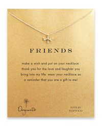 Dogeared | Metallic Dragonfly Charm Necklace | Lyst