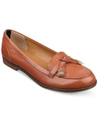 Tommy Hilfiger Brown Letyan Flats