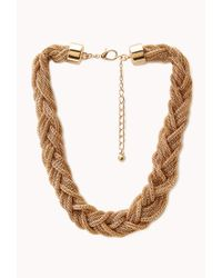 Forever 21 - Metallic Braided Box Chain Necklace - Lyst