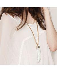 Jenny Bird White Wildland Necklace - Large